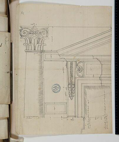 Etude de colonne et de fenêtre pour la Cour Carrée du Louvre