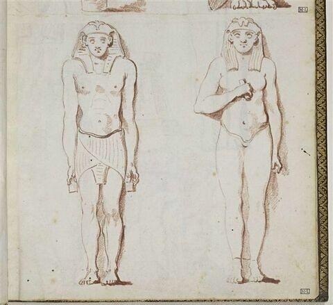 Deux statues égyptiennes
