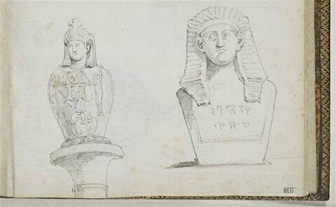 Vase canope et buste égyptien