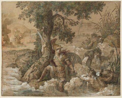 Achille luttant contre les flots du Scamandre et du Simoïs